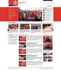 Layout for News Portal - Cuppec Nepal
