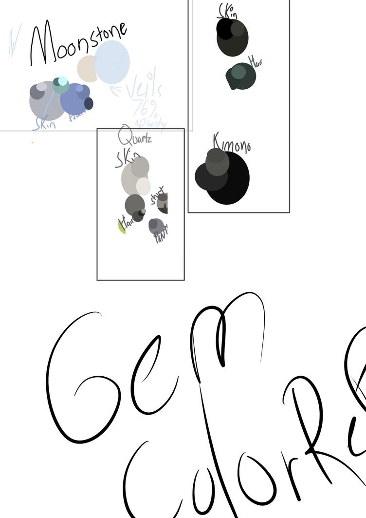 Gem Color Ref Sheet by IloveLeofromTMNT