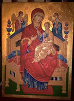 The Holy Mother of God-copy of 17th century icon by sstefiart