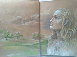 Finrod Felagund_Leaving Aman by sstefiart