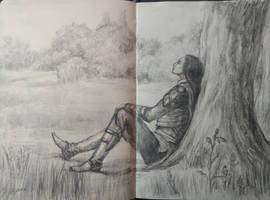 resting elf_sketch by sstefiart