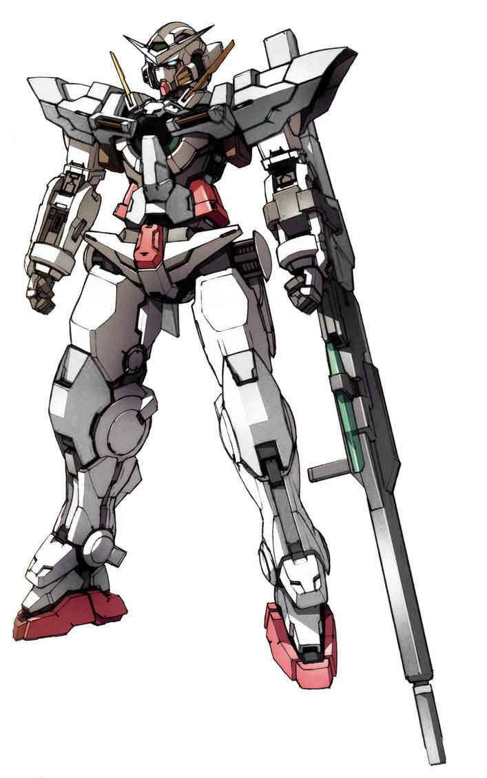 GN-001S Gundam Sterling Exia (Front) by Anzac-A1