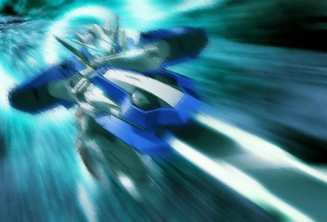 Gundam Exia Repair II - Motion Blur by Anzac-A1
