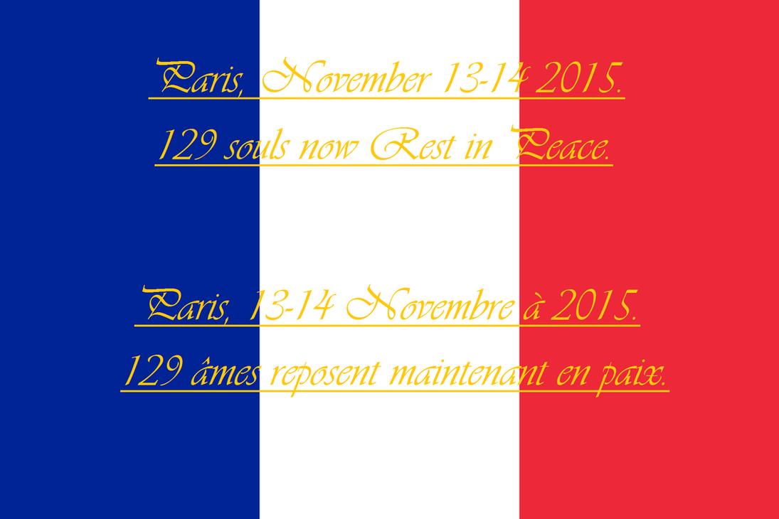 Tribute to the 2015 Paris Terrorist Attack Victims by Anzac-A1