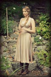 Silk wedding dress