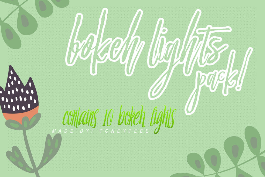 Bokeh Lights Pack Preview by toneyteee