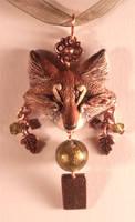Autumn Firefox - pendant