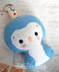 Blue Penguin Plushie Keychain