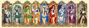 Sailor Moon art nouveau series