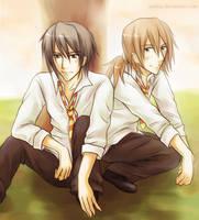 HP: Sirius+Remus by kaekaa
