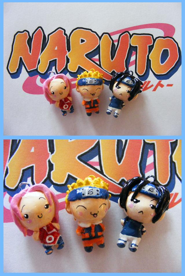 Chibi-Charms: Main Naruto Trio by MandyPandaa