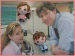 Chibi-Charms: Jim and Pam