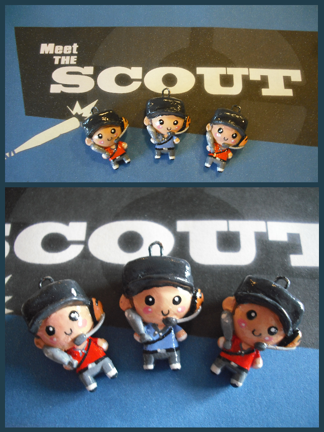 Chibi-Charms: TF2 Scout by MandyPandaa