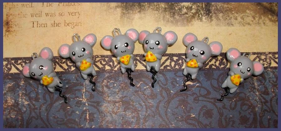 Chibi-Charms: Mice by MandyPandaa