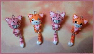 Chibi-Charms: 4 Li'l Kitties