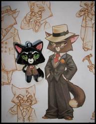 Chibi-Charms: Mordecai Heller by MandyPandaa