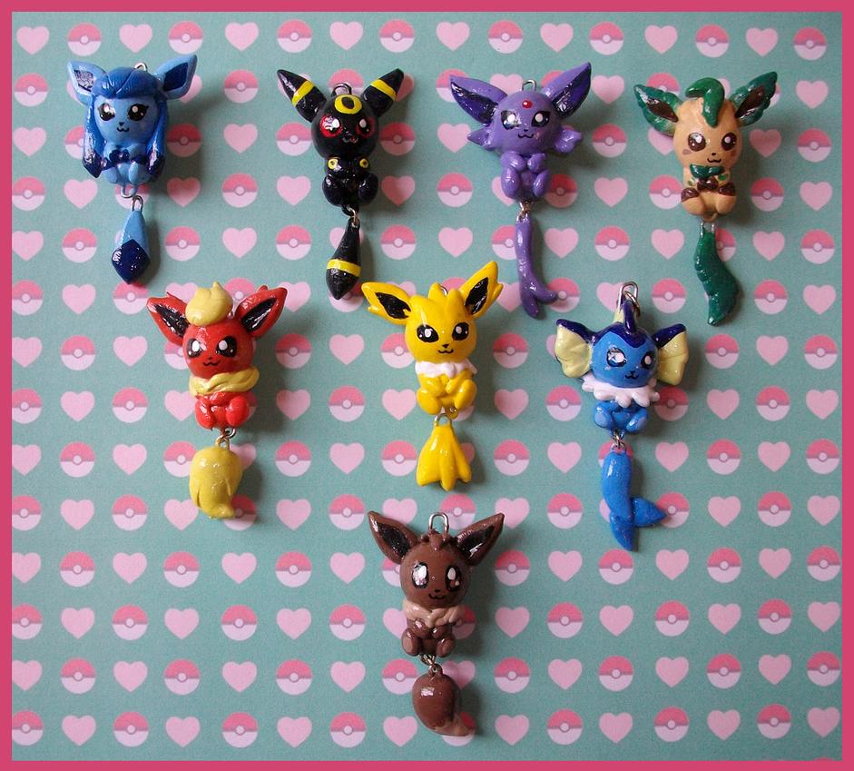 Chibi-Charms: Pokemon Eeveelutions by MandyPandaa