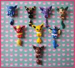 Chibi-Charms: Pokemon Eeveelutions