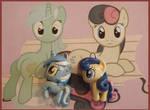 Chibi-Charms: MLP Lyra and Bon Bon by MandyPandaa