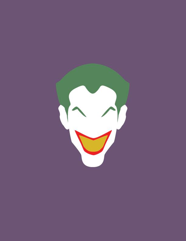 Minimalist joker by enigmarising on deviantart for Minimal art face