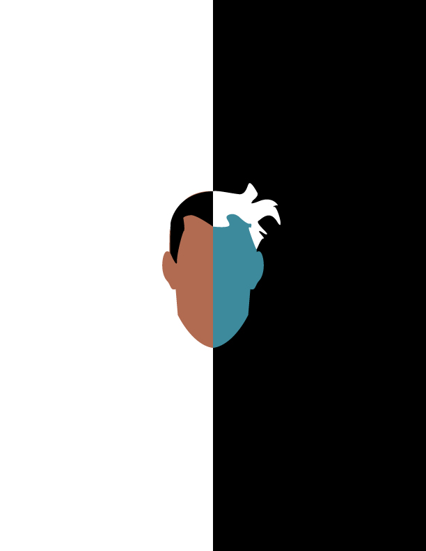 Minimalist two face by enigmarising on deviantart for Minimal art face