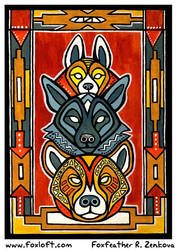 Totem: Hyena by Foxfeather248