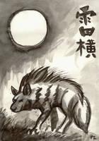 Lightning Stripes - Sumi Hyena by Foxfeather248