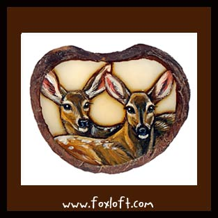 Two Fawns Tagua by Foxfeather248