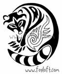 Tribal Raccoon Tattoo
