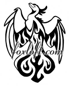 Rising Phoenix Tattoo by Foxfeather248