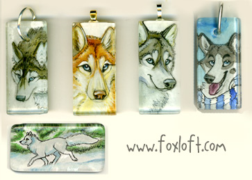 Sumi Glass Pendants Group 13 by Foxfeather248