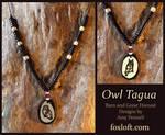 Owl Totem Tagua Pendants