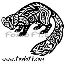 Hawaiian Tribal Pine Marten Tattoo