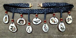 Nine Pendant Tagua Shield Necklace