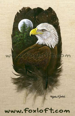 Eaglefeatherpainting