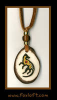 Thylacine Totem Tagua Pendant