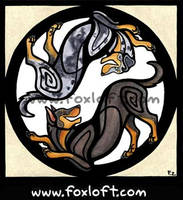 Yin Yang Dogs - Beaucerons by Foxfeather248