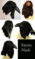 Raven Mask - Multiple Views