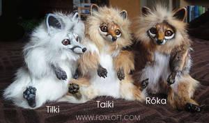 Three Fox Dolls