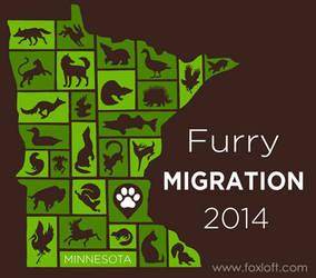 Furry Migration 2014 T-shirt Design