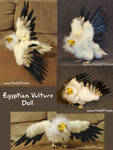 Egyptian Vulture Doll Collage