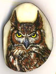 Detailed Owl on tagua