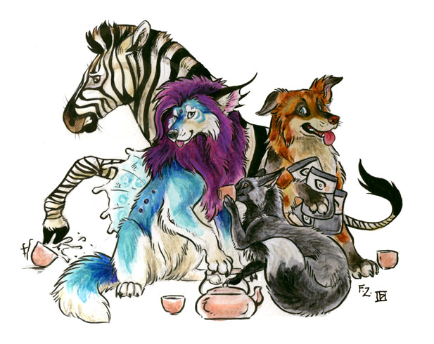 Tea Party - Collab by Foxfeather248