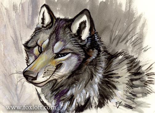 Smarmy, Smarmy wolf by Foxfeather248