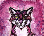 Cheshire Grin - Purple