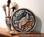 Yin-Yang Siberian Huskies Drum