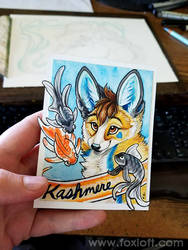 Kashmere Watercolor Badge by Foxfeather248