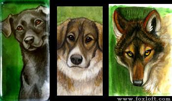 Watercolor Pendants