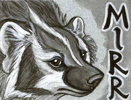 Badger Badge - Mirrdae by Foxfeather248