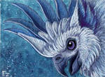 White Griffin ACEO